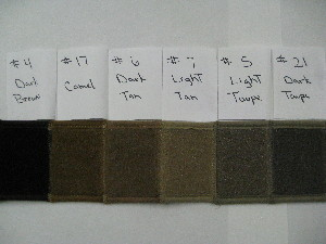 Carpet Dash Covers - Browns